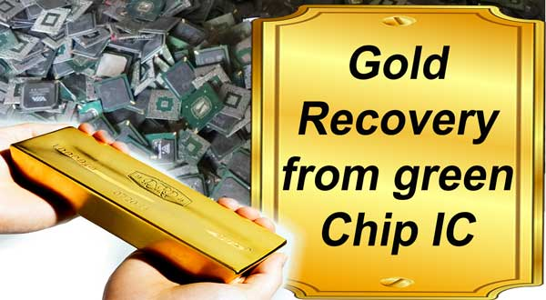 Gold recovery from Graphic IC Chips Easy Method-Gold Scrap