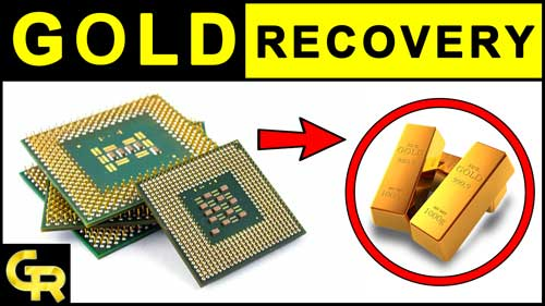 Photo of Green Fiber CPU Processors Gold Recovery